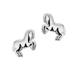 Steigerend Paard Oorknoppen van Zilver