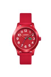 Lacoste Rood Kids Horloge met Rode Silicone Horlogeband