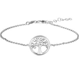 Levensboom Fantasie Armband van Zilver