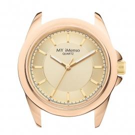 Horloge Kast met Goudkleurige Wijzerplaat