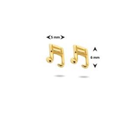 Muzieknoot Oorbellen in Goudkleur