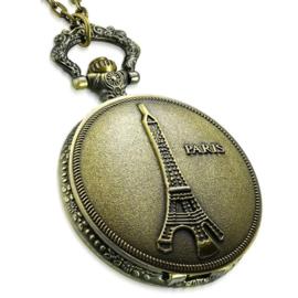 Vintage Paris Zakhorloge met Ketting