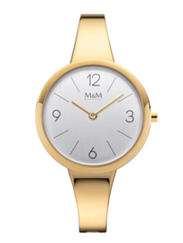 Goudkleurig M&M Dames Horloge met Elegante Horlogeband