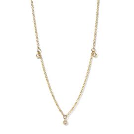 Excellent Jewelry Gouden Schakelcollier met 0,12crt. Diamanten