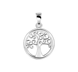 Sierlijke Levensboom Hanger van Gerhodineerd Zilver