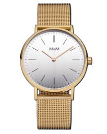 Goudkleurig Basic 36 Dames Horloge met Milanese Band van M&M