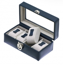 Horlogebox voor 4 horloges / Navy 37880403