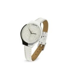 Swarovski Horloge met Wit Lederen Horlogeband van Spark
