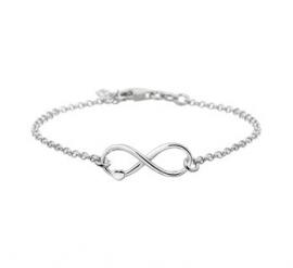 Infinity met Hart Fantasie Armband van Zilver