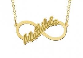 Names4ever Mathilda Model Infinity Ketting - Graveer Sieraad
