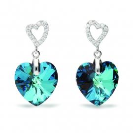 Tender Heart Blauwe Swarovski Oorbellen van Spark Jewelry