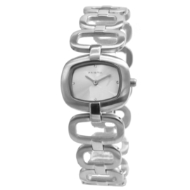 Prisma Elegant Dames Horloge met Zilverkleurige Wijzerplaat
