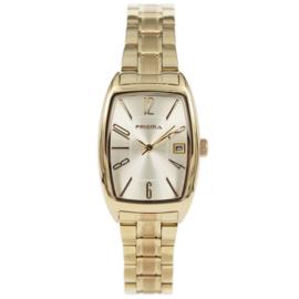 Rechthoekig Goudkleurig Dames Horloge van Prisma