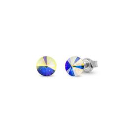 Spark Small Candy Oorknoppen met Gekleurde Glaskristal