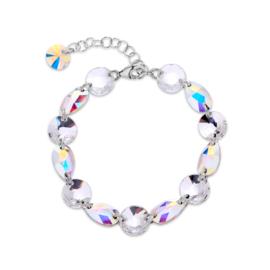 Zilveren Bovino Zachtroze Glaskristallen Armband van Spark