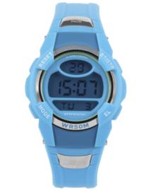 Hiker Digitaal Kids Horloge met Lichtblauwe Silicone Horlogeband
