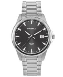 Modern Heren Horloge van Zilverkleurig Titanium met Zwarte Wijzerplaat