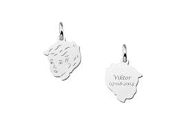 Mini Zilveren Jongens Kinderkopje | Names4ever