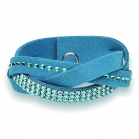 Mix Braid Blauwe Armband van Spark Jewelry