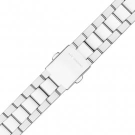 MY iMenso Quartz Mat/Gepolijste Horlogeband / Zilverkleurig