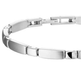 Edelstalen Armband met Langwerpige Schakels voor Dames