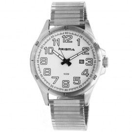 Prisma Horloge 1073.54VH Heren Classic Staal Rekband