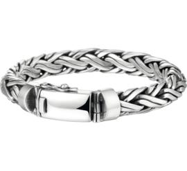 Vossestaart / Palmier 10 mm Robuuste Zilveren Armband