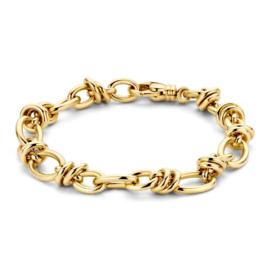 Excellent Jewelry Geelgouden Armband met Ovaalvormige Schakels