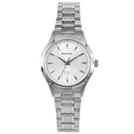 Zilverkleurig Dames Horloge met Witte Wijzerplaat