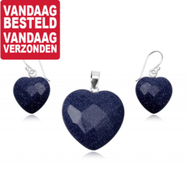 Blue Sand Sieradenset / Oorhangers + Hanger 1665