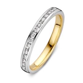 Excellent Jewelry Bicolor Ring met 0,25 crt. Briljanten