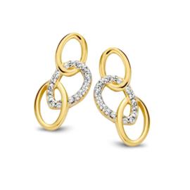 Excellent Jewelry Gouden Oorstekers met Opengewerkte Ovaaltjes