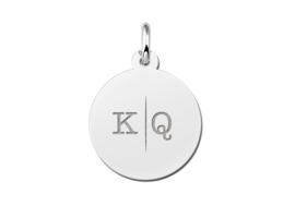 Ronde Hanger van Zilver voor Twee Letters  | Names4ever