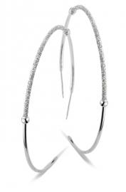 Zilveren Oorstekers met Glitters van New BLiNG