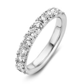 Excellent Jewelry Brede Witgouden Ring met Briljanten 1,02 crt.