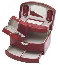Sieradendoos + reisetui in de kleur rood / DAVIDTS