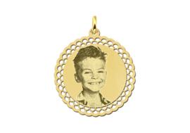 Gouden Fotogravure Hanger met Gedecoreerde Rand van Names4ever