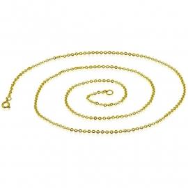 Goudkleurige Jasseron Ketting van Edelstaal 45cm