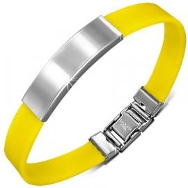 Gele graveer armband / Armband inkorten mogelijk