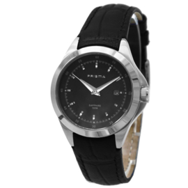 Sportief Prisma Dames Horloge met Zwarte Band