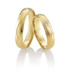 Breuning Intrigerende Gouden Kuni Trouwringen Set met Diamant