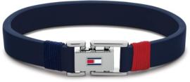 Blauwe Lederen Heren Armband van Tommy Hilfiger