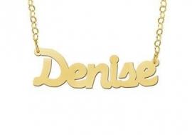 Names4ever Denise Stijl Gouden Naamketting