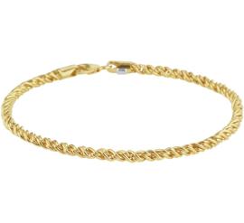Draadschakel Armband van Goud met Zilveren Kern