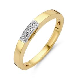 Excellent Jewelry Bicolor Ring met Diamanten