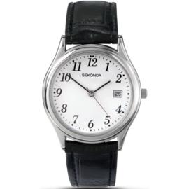 Sekonda Klassiek Heren Horloge met Zwart Lederen Band