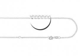 Zilveren Gourmet Collier Names4ever | Lengte: 38-42 cm