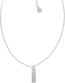 Zilverkleurig Dames Collier met Zirkonia Hanger van Tommy Hilfiger