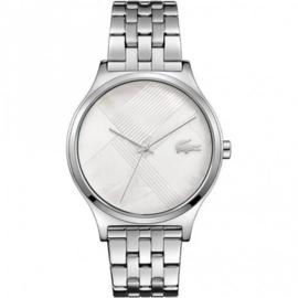 Zilverkleurig Nikita Horloge voor Dames met Schakelband van Lacoste