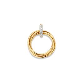 Excellent Jewelry Ronde Hanger van Geelgoud met Zirkonia's